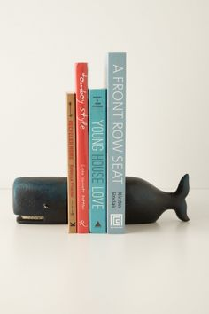 Victorian Whale Bookends - contemporary - accessories and decor - Anthropologie possible ceramic book ends? Recycled House, Young House Love, Ideias Diy, Paperclay, Blog Deco, Deco Design, Design Design, Home And Deco, Home Living