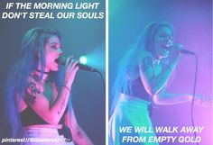 empty gold: halsey. credit//@lilasteroid✧*:•(≧∇≦)