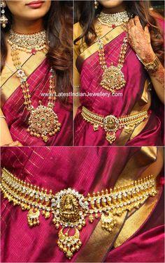antique gold polki diamond bridal jewellery