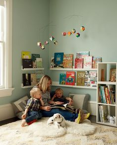 Kuschelecke children's room - create a personal corner for the child - Kids Corner Kids Corner, Reading Corner Kids, Cozy Corner, Reading Areas, Corner Space, Girl Room, Baby Room, Child's Room, Book Ledge