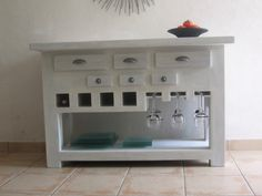 Table console de cuisine terminée ! - meubles en carton marie krtonne