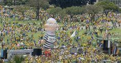 Atos contra o governo Dilma e a corrupção reúnem multidões no Brasil