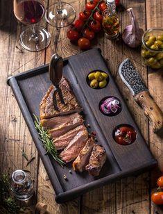 Steaks, Steak Plates, T Bone Steak, Sushi Set, Grilling Gifts, Square Plates, Burger, Serving Board, Snack