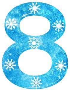 Free Frozen Snowflake Numbers l Great-Kids-Birthday-Parties.Com.