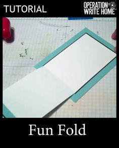 Fun fold for cards tutorial with video