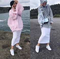 ZAFUL offers a wide selection of trendy fashion style women's clothing. Affordable prices on new tops, dresses, outerwear and more. Modern Hijab Fashion, Muslim Fashion, Modest Fashion, Fashion Outfits, Casual Hijab Outfit, Hijab Chic, Hijab Mode Inspiration, Hijab Stile, Hijab Trends