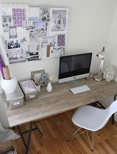 Office inspiration: pretty purples