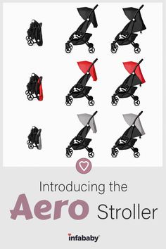 We are so excited that we can finally share with you the long awaited Infababy Aero Stroller! Available now on our website in the colours Onyx, Ruby and Silver. Not only is this stroller incredibly sleek and stylish looking, it is also really convenient and easy to use. This stroller is suitable from 6 months up to approximately 3 years of age (15kg) To find out more about our newest stroller visit our website
