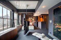 Swivelling TV. Great idea. Apartment 18FL, 130 West 30th Street, Chelsea, #NewYorkCity http://www.corcoran.com/nyc/Listings/Display/2758854