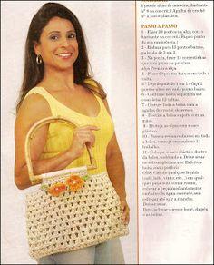 CROCHE COM RECEITAS: Bolsas de croche