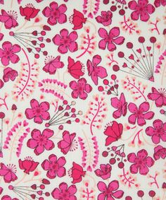 Sarah's Secret Garden in fuschia--also see similar fabric in lighter pink colorway