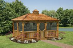 Wood Rectangular Gazebos - North Country ShedsNorth Country Sheds