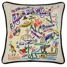 Handmade Michigan State Pillow by Catstudio. Decorate your home with this beautiful geographic pillows. Sweet Home Alabama, Alabama Room, Alabama Baby, State Of Michigan, Holland Michigan, Guild Wars, University Of Alabama, Look Vintage, The Fresh