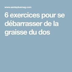 6 exercices pour se débarrasser de la graisse du dos
