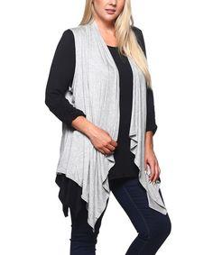 5d214ce6ac BOLD   BEAUTIFUL Heather Gray Drape Vest - Plus