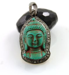 Breath taking Stunning Buddha Carved Large Pendant by Beadspoint