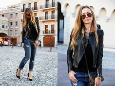Zara Jacket, Zara Jeans, Louis Vuitton Bag, Zara Shoes, Ray Ban Sunnies