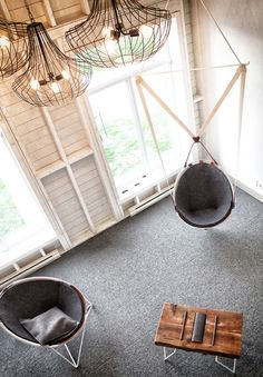 Hanging Lounge Chair Design Ideas To Beautify Your Corner Space 49 Hammock Swing Chair, Corner Space, Lounge Chair Design, Das Hotel, Soft Seating, Decoration, Designer, Sweet Home, House Design