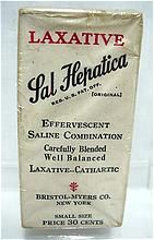 Sal Hepatica Laxative Pharmacy or Drugstore Item Mint Unopened