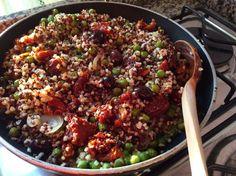 Ricette di ... corsa!: La ricetta svuotafrigo: quinoa e bulgur