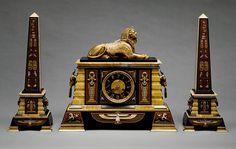 Egyptian revival clock beautiful quality