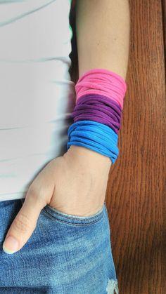 This item is unavailable T Shirt Bracelet, Bracelet Men, Handmade Bracelets, Cuff Bracelets, Lgbt Memes, Colorful Bracelets, Pink Purple, Blue, Are You The One