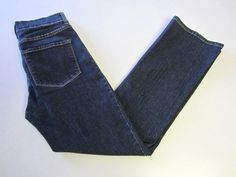 Not Your Daughters Jeans 4 P Petite Blue NYDJ Plain Pockets #NotYourDaughtersJeans #BootCut