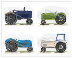 Tractor Art Boys Vintage Farm Prints For by sweetpeasartstudio2, $21.99