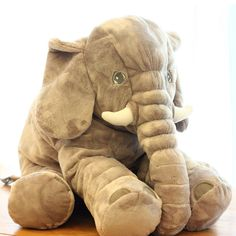 elephant plush toy Extremely soft and high quality Perfect gift for your partner or children Elephant Pillow, Elephant Size, Baby Elephant, Cheap Pillows, Baby Pillows, Kids Sleep, Baby Sleep, Cartoon Toys, Birthday Gifts For Kids