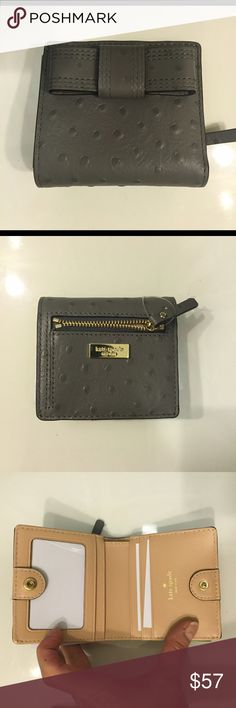 """SUPER CUTE KATE SPADE BIFOLD WALLET📍FIRM PRICE📍 NWT  Kate Spade very beautiful Bifold Wallet. ID, cash, card and coin pockets. Snap closure. Gold tone hardware details. Measurements 4""""x3.5"""". Great gift idea for holidays. kate spade Bags Wallets"""