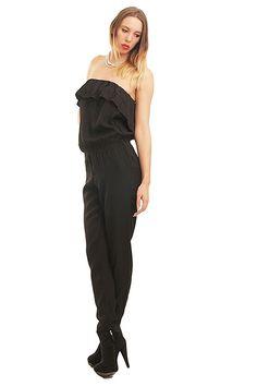 Only Damen Overall Jumpsuit Einteiler, Farbe:Schwarz, - silvester outfit  damen silvester outfit