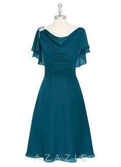 Shop Azazie Mother of the Bride Dresses - Keely MBD in Chiffon. Discover our stunning collection of flattering mother of the bride dresses in your choice of style, color, and fabric. Indian Gowns Dresses, Evening Dresses, Bride Dresses, Special Dresses, Cute Dresses, Teal Dresses, Teal Dress For Wedding, Party Wear Frocks, Girl Dress Patterns