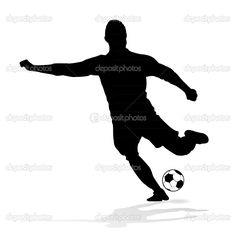soccer player silhouette - Google Search