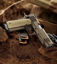 Kimber DesertWarrior  .45ACP  Marines are tryin to get this standard issue.