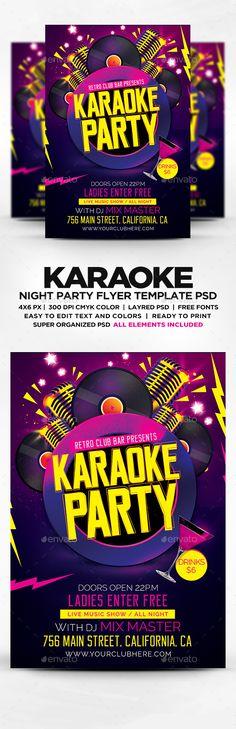 Karaoke Or Comedy Night Flyer Template  Postermywall  Karaoke