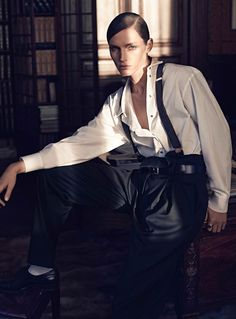 "Vivien Solari in ""La Vie De Château"" by Scott Trindle for Vogue Paris, March 2014 See more from this set here."
