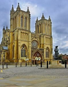 Bristol Cathedral West View,