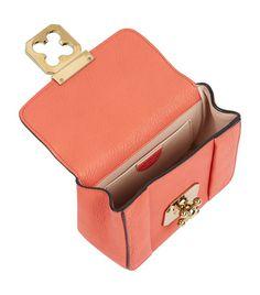 Chloé Pink Coral Goatskin Elsie Small Shoulder Bag