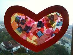 Preschool Crafts for Kids*: Valentine's Day Heart Sun Catcher Craft
