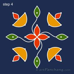 5x5 Dot Rangoli Step 4