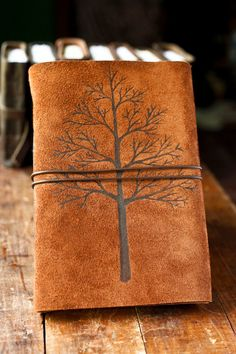 I have been feeling the overwhelming desire to begin again. I would LOVE a leather journal, something rustic looking!