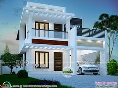 Sanjorjo model is a 3 bedroom one storey house design with roof deck – Amazing Architecture Magazine Simple House Design, Bungalow House Design, House Front Design, Modern House Design, Deck Design, Contemporary House Plans, Modern House Plans, Modern Contemporary, Contemporary Kitchens