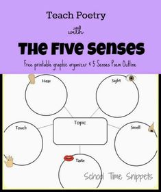 Introduce your child to writing his/her own 5 Senses poem using this free printable graphic organizer. Such a fun and simple way to explore poetry to kids! #poetry #kidsactivities #5senses