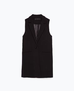 ZARA - COLLECTION AW15 - WAISTCOAT WITH BELT
