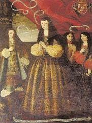 Catalina de Lancaster, duquesa de Aveiro, con sus hijos