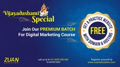 Premium Batch for Digital Marketing Course!! Now, enroll with the Premium batch for Digital Marketing Course at Zuan Education and avail amazing benefits to climb up your career ladder like never before.  Know More at http://bit.ly/PremiumDigitalMarketing Call +9025500600 For Course Registration