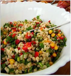 Közlenmiş Biberli Buğday Salatası Tarifi