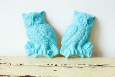 Tiffany Blue Owl Wall Hangings