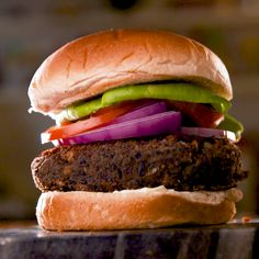 Finding alternatives to meat can be hard, but we think these burgers really nail it. The secret? Stop trying to make them taste like beef, and focus on the flavor! Get the recipe at Delish.com. #delish #easy #recipe #vegetarian #burger #blackbean #blackbeanburger #oven #baked #healthy #nomeat