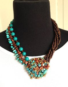women handmade beaded jewelry necklace bib necklace boho beaded necklace unique one of a kind statement colorful necklace